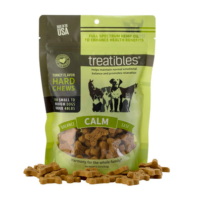 Treatibles - Turkey Flavor Hard Chews - Small Dog - 45 Ct