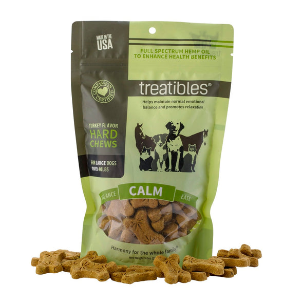 Treatibles - Turkey Flavor Hard Chews - Large Dog - 75 Ct
