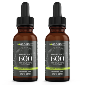 Go Pure CBD 600 mg Tincture 2 Pack