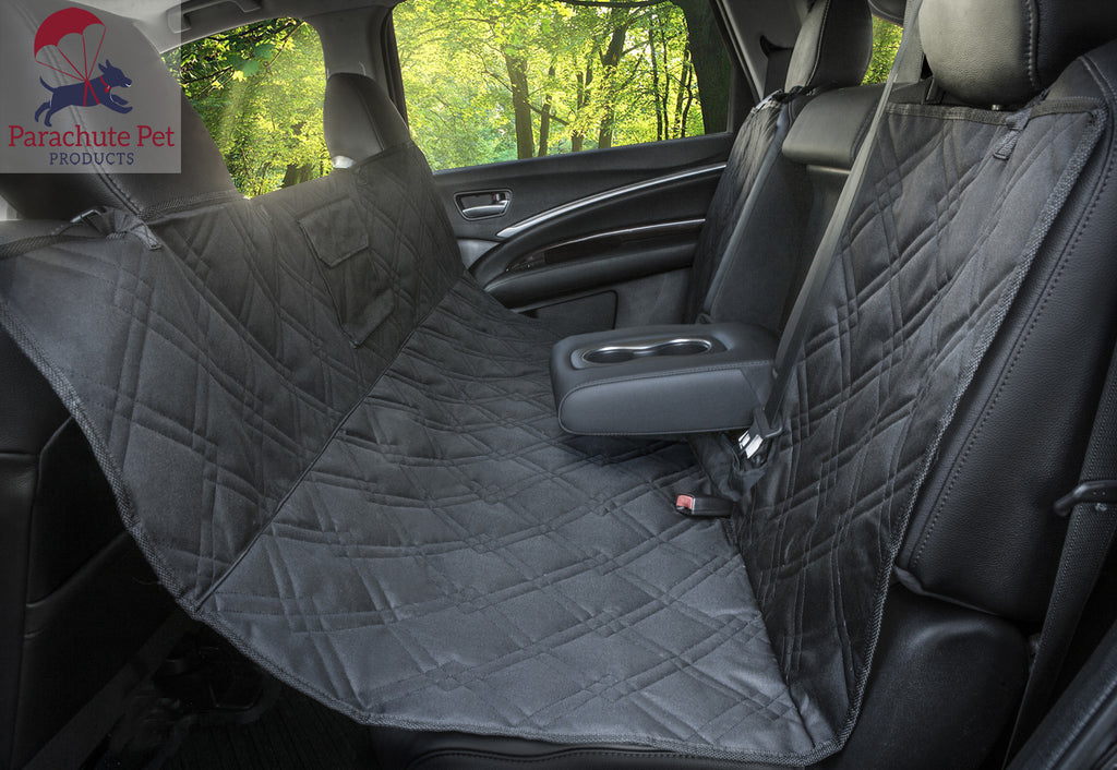 Rear Bench Seat Protector With Non Slip Backing And Middle Zipper Opening