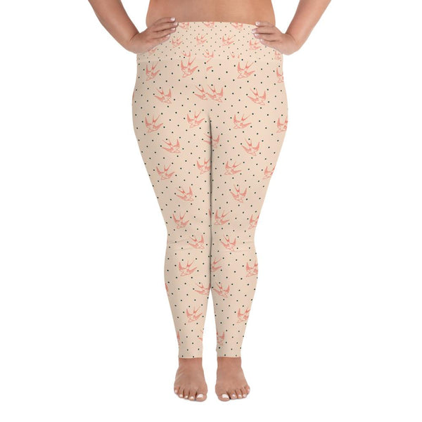 Bird Pattern Plus Size Leggings - Gatch Tees