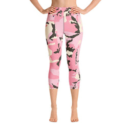 Camo Pattern Yoga Capri Leggings - Gatch Tees