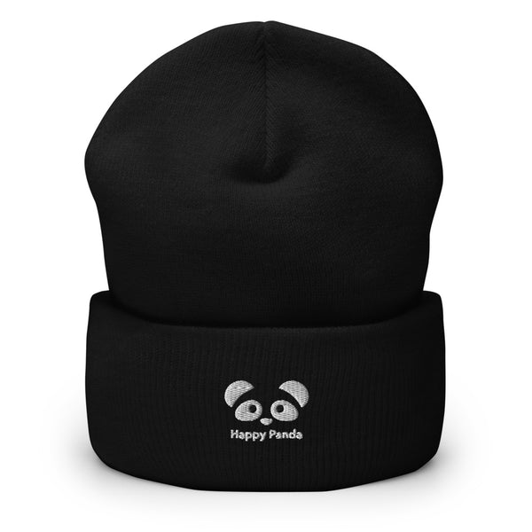 Happy Panda Cuffed Beanie