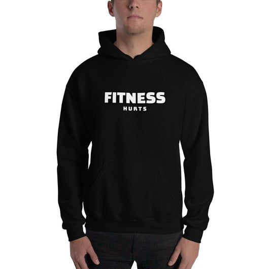 Fitness Hurts Hooded Sweatshirt - Gatch Tees