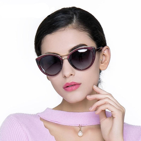 Black High Quality Women's Cat Eye Polarized Sunglasses - Gatch Tees