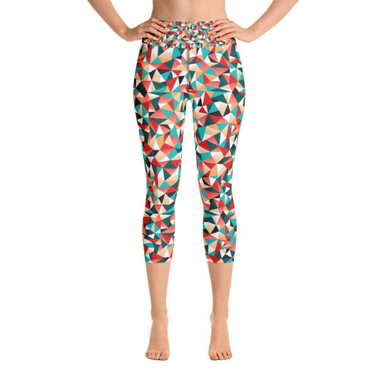 Kaleidoscopic Yoga Capri Leggings - Gatch Tees