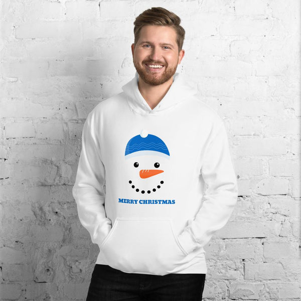 White Merry Christmas Unisex Hoodie - Gatch Tees