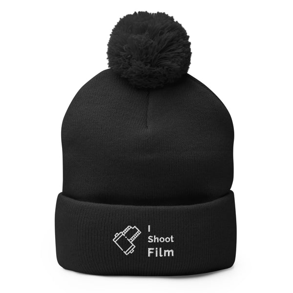 I Shoot Film Pom-Pom Beanie