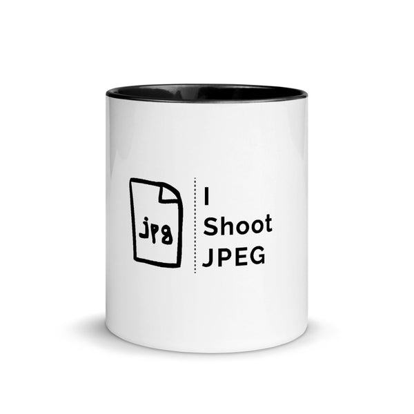 I Shoot JPEG Mug with Color Inside