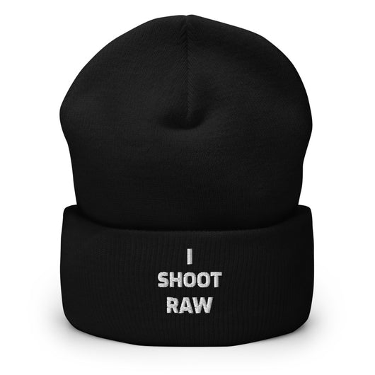 I Shoot Raw Cuffed Beanie