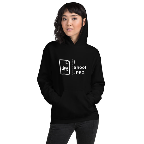 I Shoot JPEG Ladies Hoodie