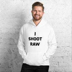 White I Shoot Raw Men's Hoodie