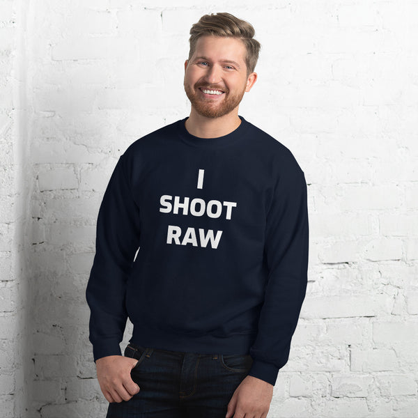 I Shoot Raw Men's Sweat Shirt