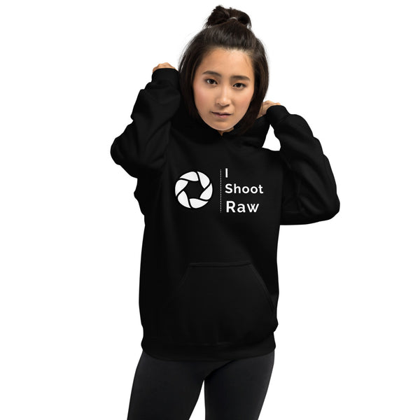 I Shoot Raw Ladies Hoodie