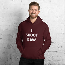 Maroon I Shoot Raw Men's Hoodie