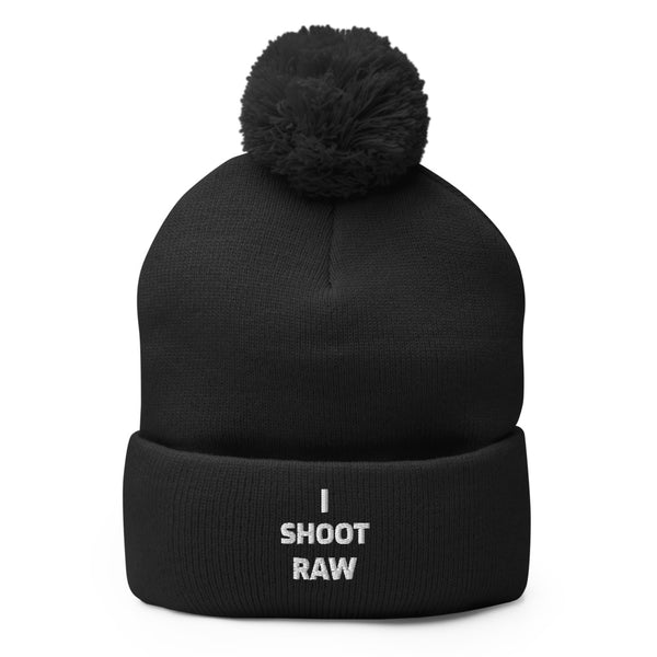 I Shoot Raw Pom-Pom Beanie