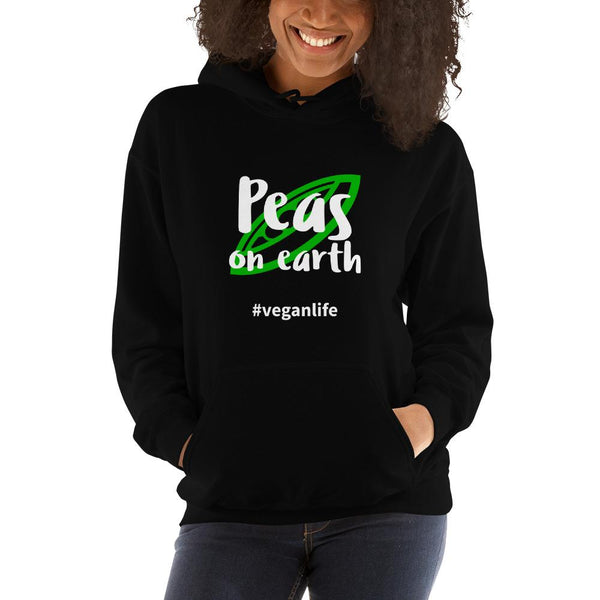 Peas on Earth Hooded Sweatshirt - Gatch Tees