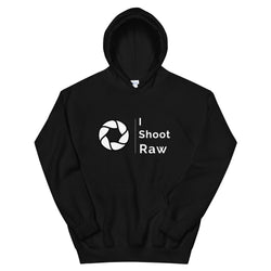 Black I Shoot Raw Men's Hoodie