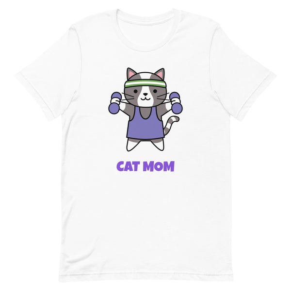 Cat Mom Ladies T-Shirt