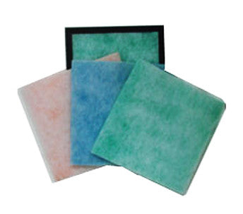 "Pad and Frame Air Filter (1 Frame and 6 Pads) - 9 1/2"" x 9 1/2"" x 1"""