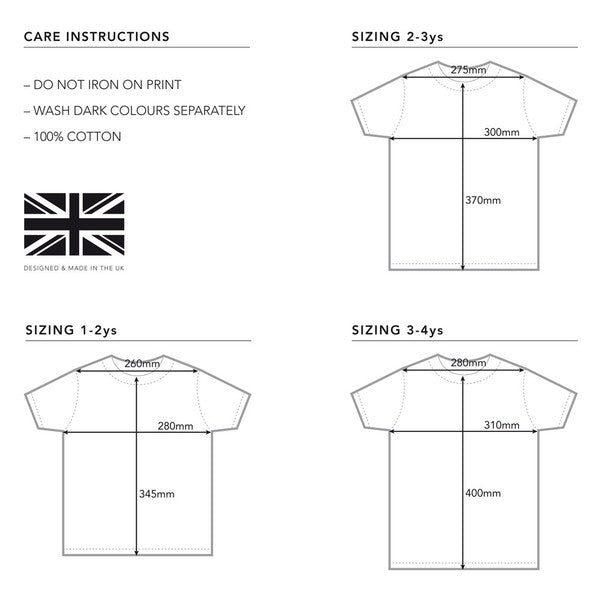 sizing guide for wild boys and girls