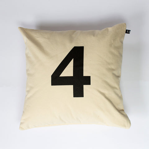 Number #4 Cushion - Wild Boys and Girls - 1