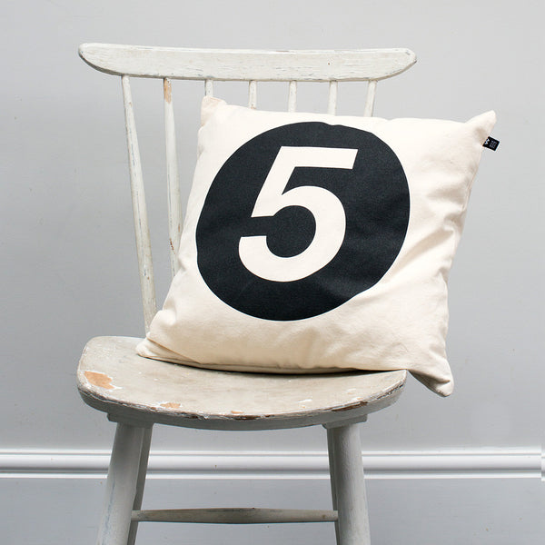 Number #5 Cushion - Wild Boys and Girls - 2