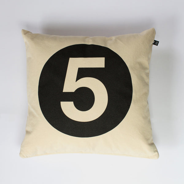 Number #5 Cushion - Wild Boys and Girls - 1