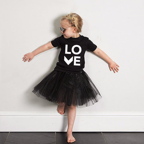Black LOVE Tshirt - Wild Boys and Girls - 1