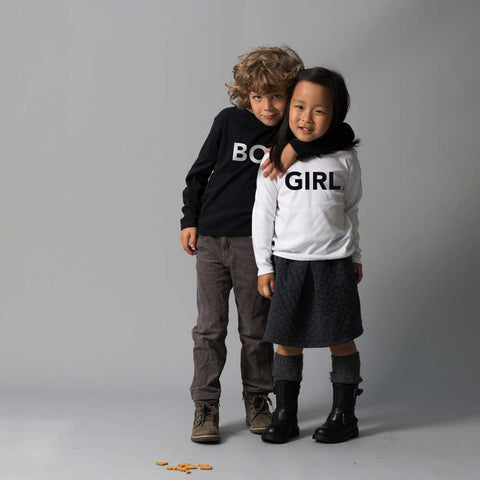 White GIRL Tshirt Long Sleeve - Wild Boys and Girls - 1