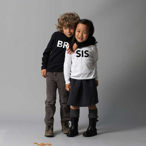 White SIS Tshirt Long Sleeve - Wild Boys and Girls - 1