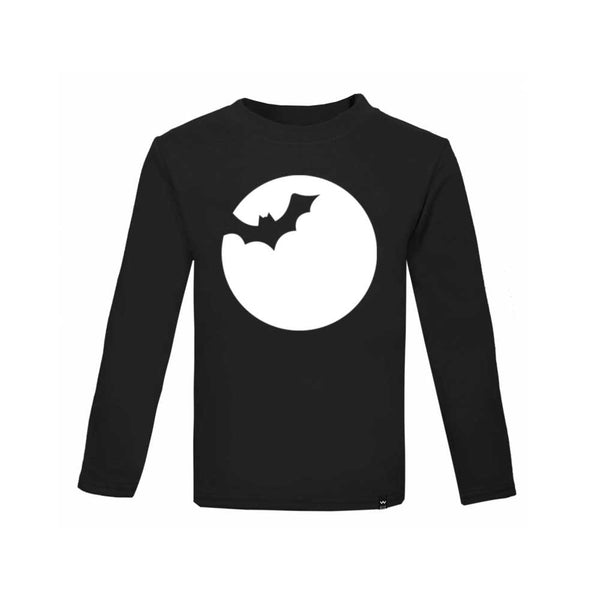Black BAT Tshirt Long Sleeve - Wild Boys and Girls - 2