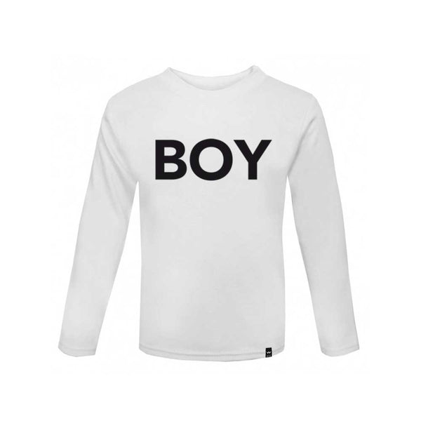 White BOY Tshirt Long Sleeve - Wild Boys and Girls - 2