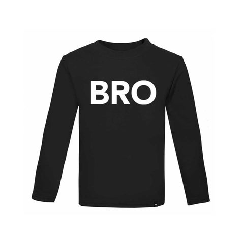 Black BRO Tshirt Long Sleeve - Wild Boys and Girls - 1