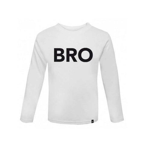 White BRO Tshirt Long Sleeve - Wild Boys and Girls - 1