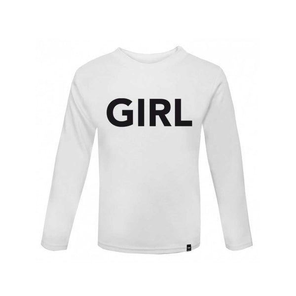 White GIRL Tshirt Long Sleeve - Wild Boys and Girls - 2