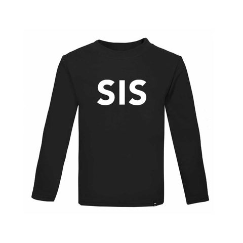 Black SIS Tshirt Long Sleeve - Wild Boys and Girls - 1