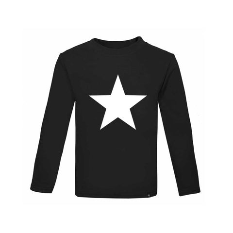 Black STAR Tshirt Long Sleeve - Wild Boys and Girls - 1