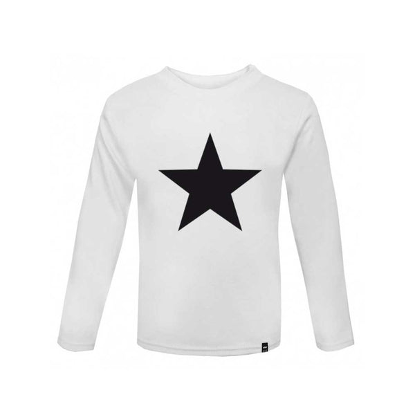 White STAR Tshirt Long Sleeve - Wild Boys and Girls - 2