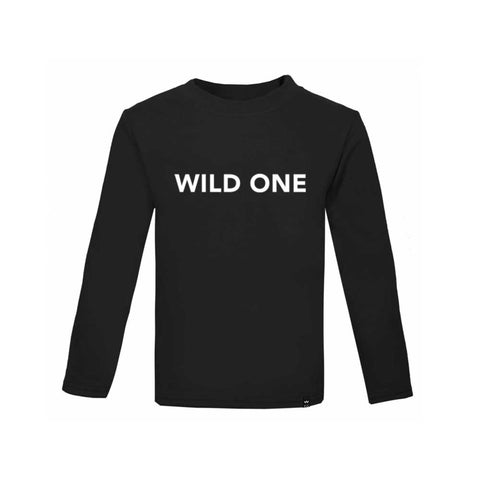 Black WILD ONE Tshirt Long Sleeve - Wild Boys and Girls - 1