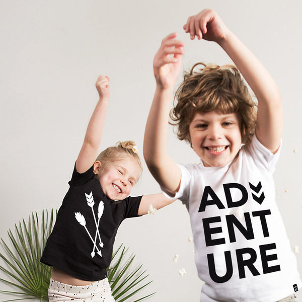 White ADVENTURE Tshirt - Wild Boys and Girls - 1