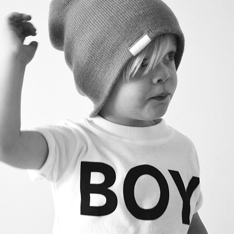 White BOY Tshirt - Wild Boys and Girls - 1