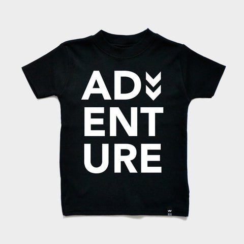 Black ADVENTURE Tshirt - Wild Boys and Girls - 1
