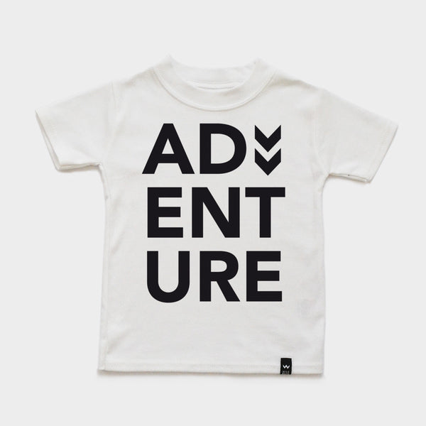 White ADVENTURE Tshirt - Wild Boys and Girls - 2
