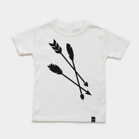 White ARROWS Tshirt - Wild Boys and Girls - 1