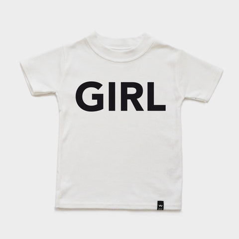 White GIRL Tshirt - Wild Boys and Girls - 1