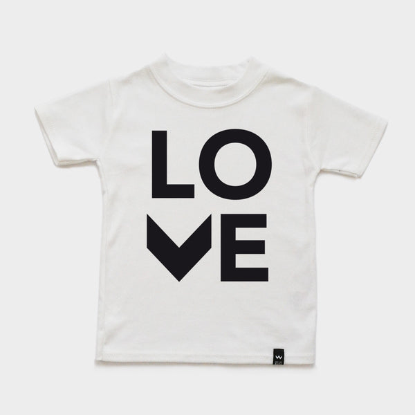 White LOVE Tshirt - Wild Boys and Girls - 2