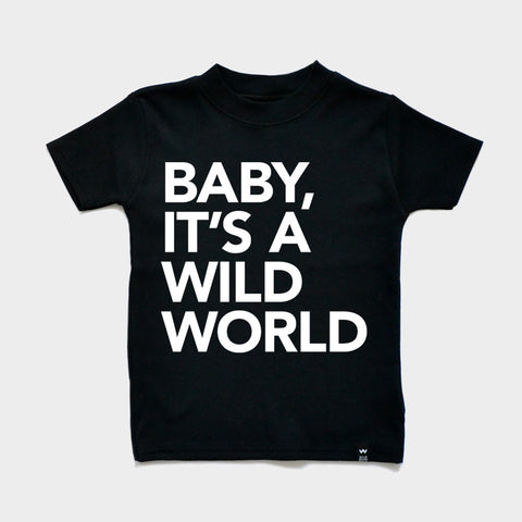 Black WILD WORLD Tshirt - Wild Boys and Girls - 1