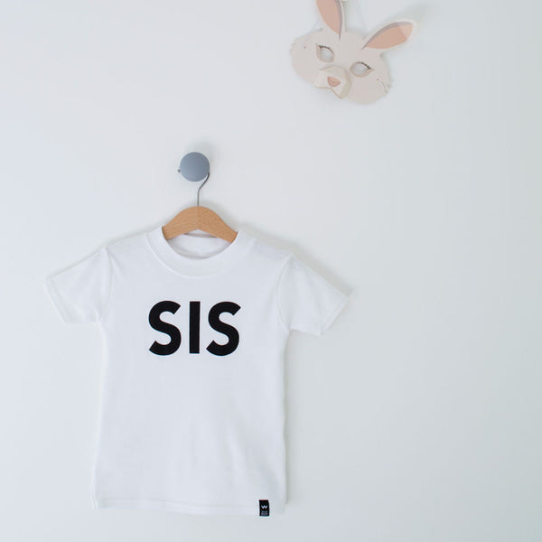 White SIS Tshirt - Wild Boys and Girls - 1