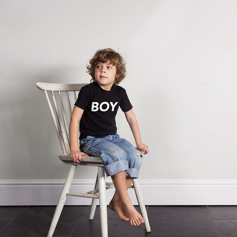 Black BOY Tshirt - Wild Boys and Girls - 1